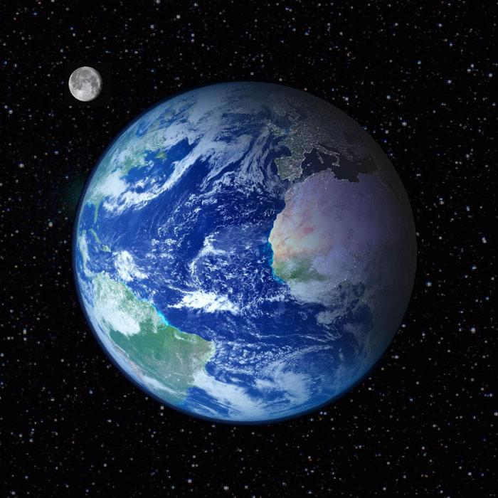 Terre De Lune Eschau : la terre le syst me solaire ~ Premium-room.com Idées de Décoration