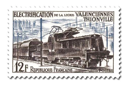 Eleclectrification , ligne  Valenciennes-Thionville