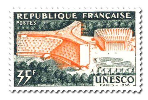 Inauguration du Palais de l'U.N.E.S.C.O à Paris