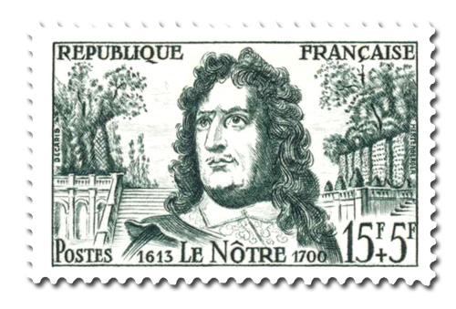 André Le Nôtre et vue du Parc de Versailles