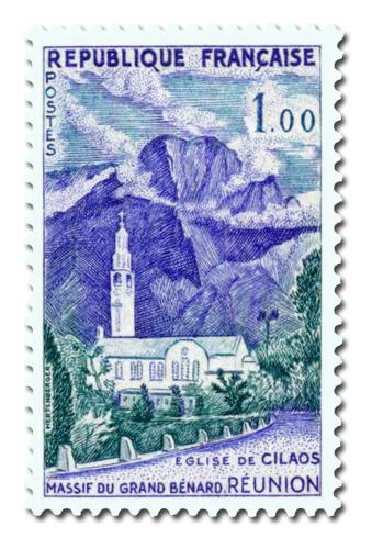 Massif du Grand Bénard et Eglise de Cilaos  (Réunion)