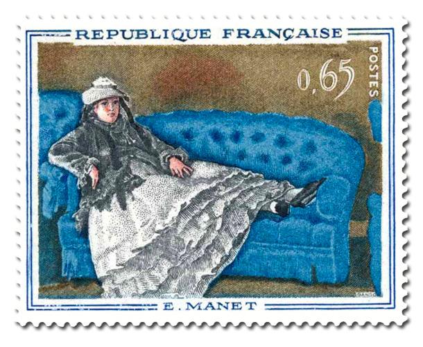 Le Canapé bleu  - de Manet (1832-1883)