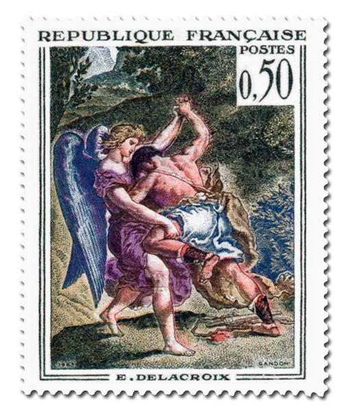Delacroix  - Lutte de Jacob avec l'Ange.