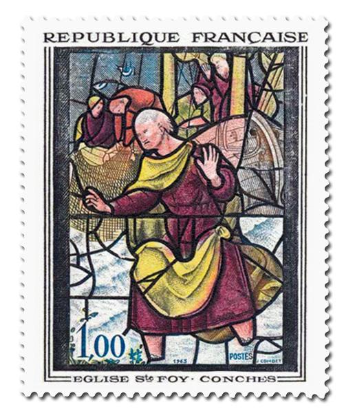 Vitrail de l'église Sainte-Foy de Conches