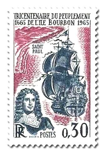 Tricentenaire du peuplement de l'ile Bourbon  (La Réunion)