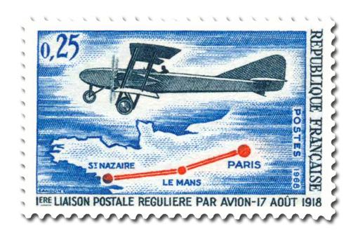 Première liaison postale régulière par avion