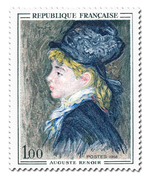 Portrait de modèle   - Auguste Renoir