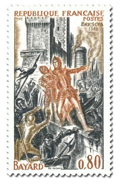Bayard à la bataille de Brescia.