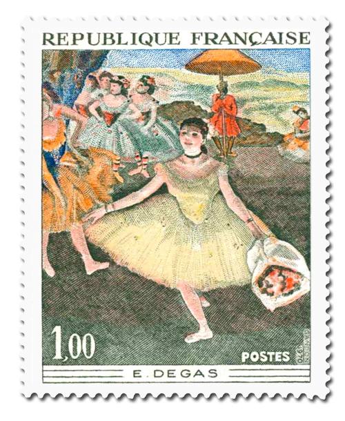 Edgard Degas  (1834 - 1917) - Danseuse au bouquet.