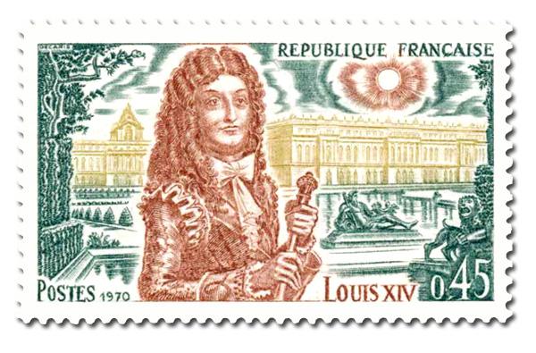 Louis XIV  (en 1643) - Vue du château de Versailles
