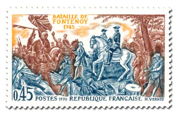 Bataille de Fontenoy en 1745.