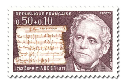 Esprit Auber ( 1782 1871) - Célébrité.