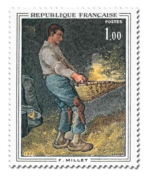 Jean-François Millet (1814 - 1875)  - le Vanneur.