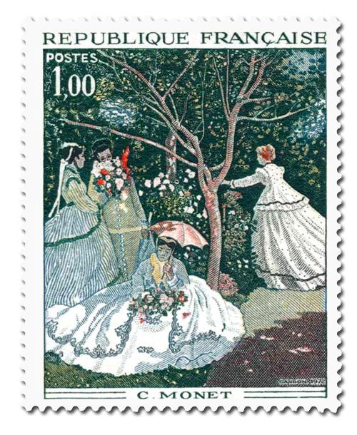 Monet (1840 - 1926)  Les Femmes au jardin.