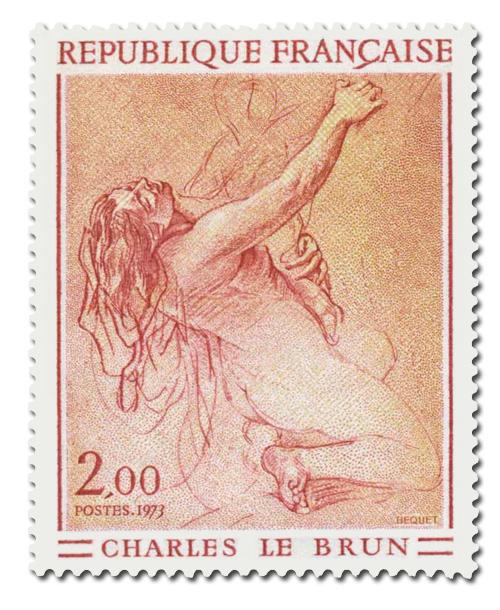 Etude de femme à genoux de Charles Le Brun.