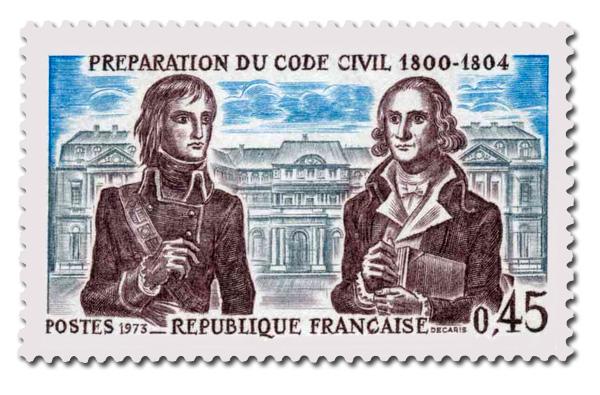 Histoire de France - Préparation du code civil. 1800-1804