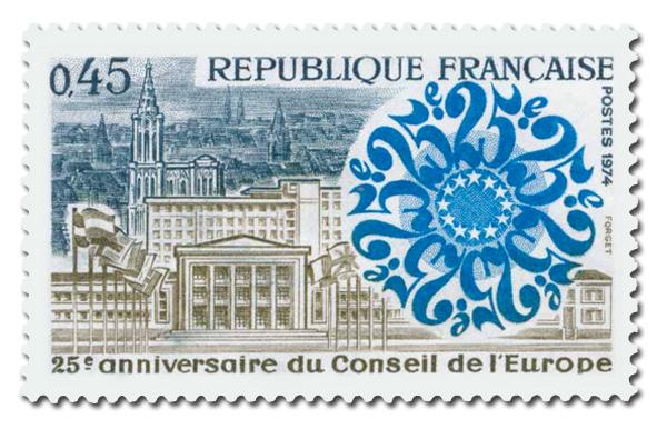 Conseil de l'Europe  - 25° Anniversaire.