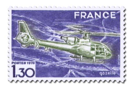 Hélicoptère Gazelle.