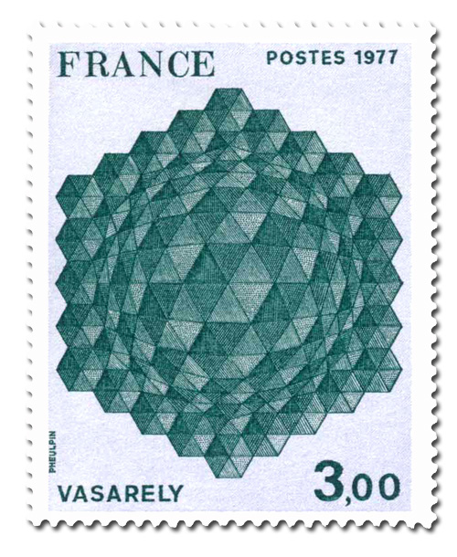 Vasarely  - Hommage à l'hexagone.