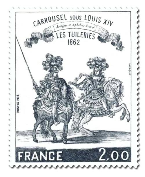 Carrousel sous Louis XIV - Les Tuileries 1662 .