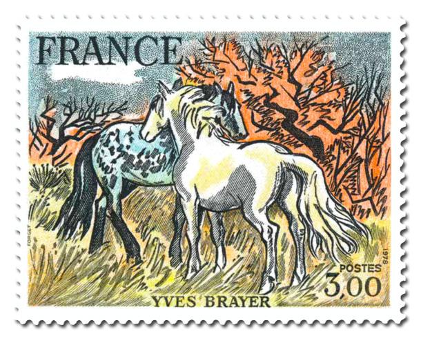 Chevaux de Camargue d'Yves Brayer