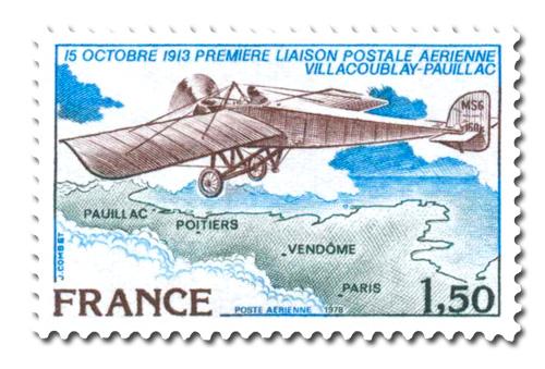 Première Liaison postale aérienne entre Villacoublay et Pauillac